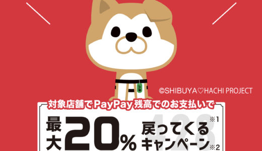 恵比寿でPayPay20%戻ります